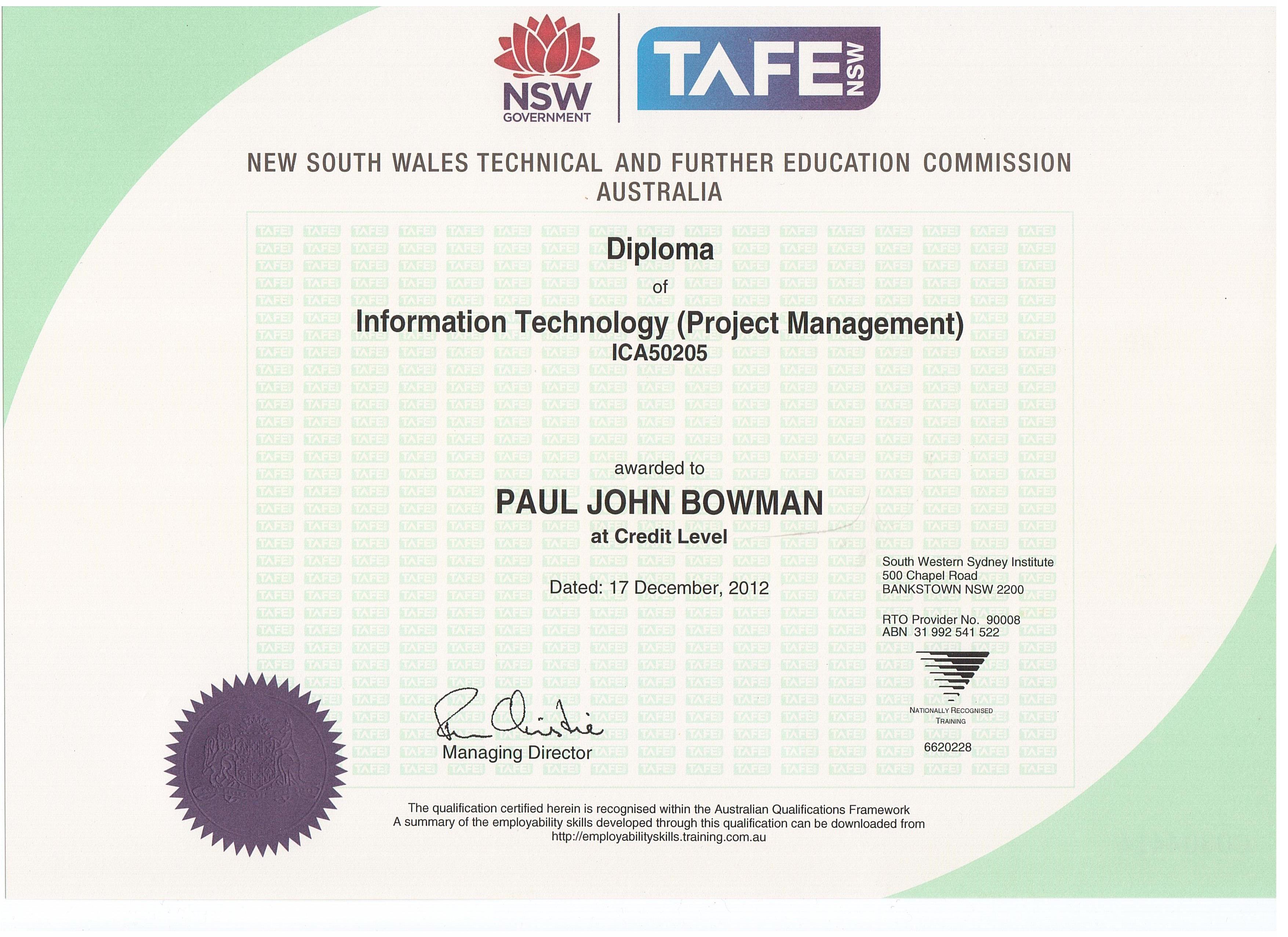 Pauls Website Certificates